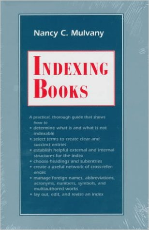 Book cover of Indexing books by Nancy Mulvany