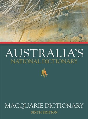 Book cover image for the Macquarie Dictionary