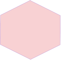 Pink hexagon bullet symbol