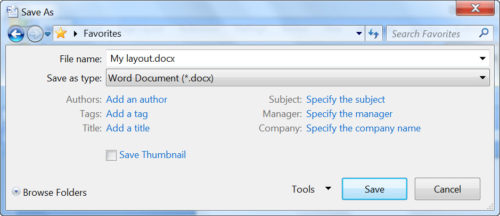 Format a new document in Microsoft Word - how to save a document