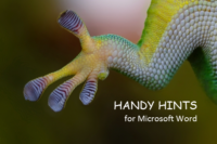Handy hints for Microsoft Word